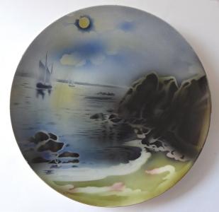 Dekorativní talíř s plachetnicí a útesy - Villeroy & Boch (1).JPG