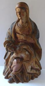 Dřevěné sousoší, Pieta - setřelá polychromie (1).JPG