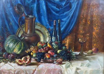 Fritz Baum - Zátiší s ovocem a džbánem (2).JPG
