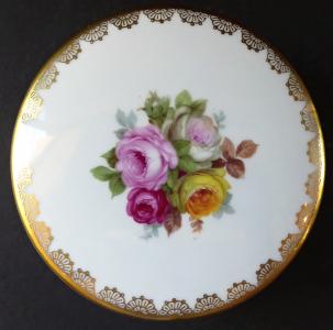 Kulatá dóza, s barevnými růžemi - Rosenthal (1).JPG