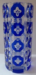 Broušená váza s modrými medailony (1).JPG
