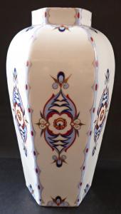 Porcelánová váza s art dekovým vzorem - Victoria, Stará Role (1).JPG