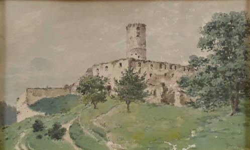Jan Novopacký - Zřícenina hradu (2).JPG