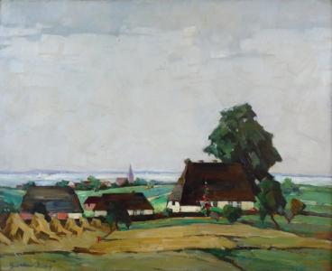 Gustav Hötig - Vesnice u jezera (2).JPG