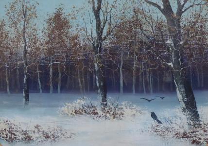 Zima v listnatém lese - Střední Evropa 1880 - 1900 (2).JPG