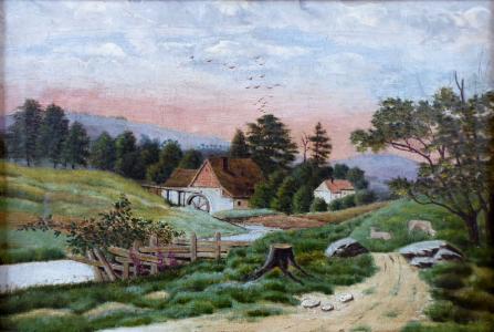 Cesta k mlýnu - Střední Evropa 1860 - 1880 (2).JPG
