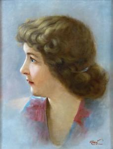 Bohumil Klimeš - Portrét mladé ženy (2).JPG