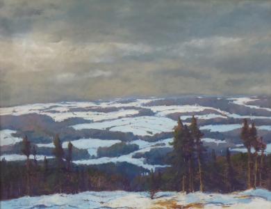 Alois Janeček Pardubský - Zimní krajina (2).JPG
