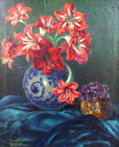 Franz Gruss - Rudé květy ve váze (2).JPG