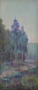 Pravoslavný kostel v krajině s břízami (2).JPG