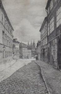 František Zimmerhansl - Loretánská ulice na Hradčanech (2).JPG