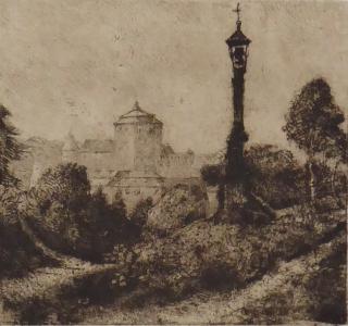 Výhled na hrad na cestě s lucernou a božími mukami (2).JPG