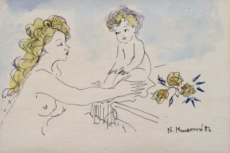 Nora Musatová - Matka s dítětem (2).JPG