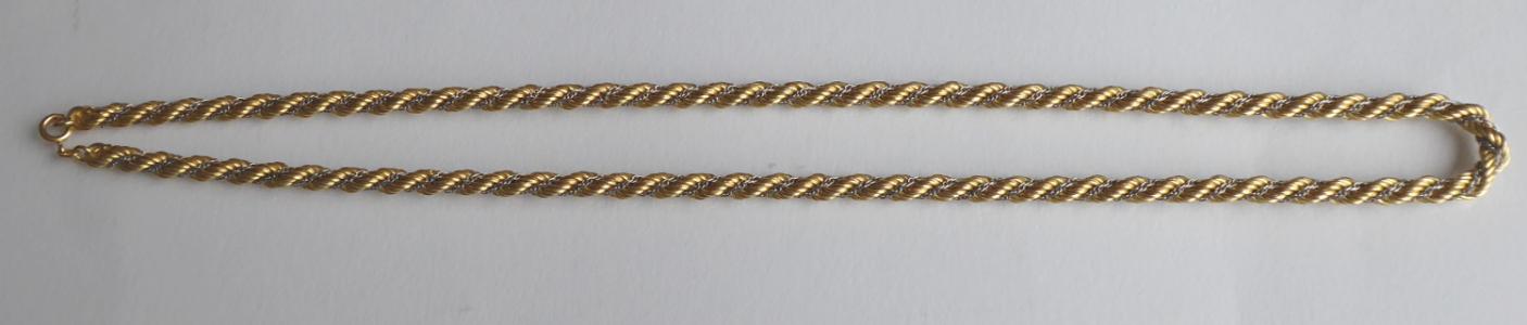 Zlatý masivní řetízek Valis, ze žlutého a bílého zlata (1).JPG