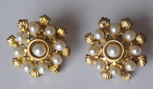 Zlaté zdobné náušnice, s perličkami (1).JPG