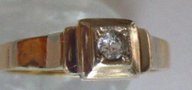 Prstýnek z bílého a žlutého zlata, s čirým kamínkem (1).JPG