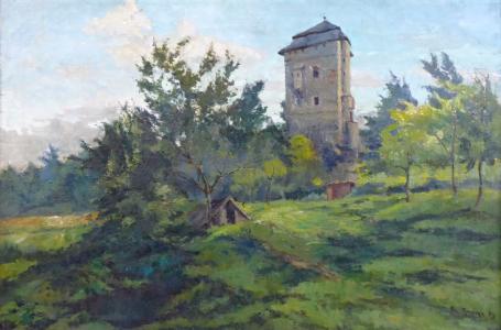 Ota Moravec - Věž v krajině (2).JPG
