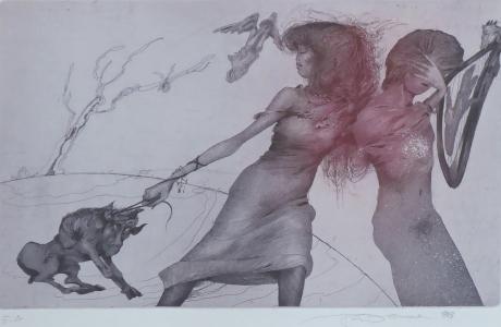 Karel Demel - Dívka s čertem (2).JPG