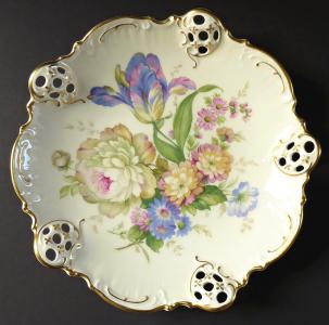 Dekorativní miska s květy a rokaji - Rosenthal (1).JPG