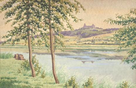 Pohled na hrad Trosky od vodní plochy (2).JPG