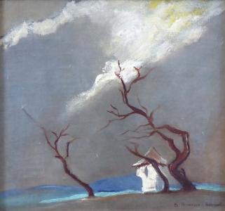 Bohumíra Hrušková, Ježková - Kaplička se stromy za bouře (2).JPG
