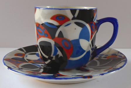 Moka šálek s kruhy - Art deko (1).JPG