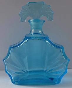 Karafa z akvamarínového skla - Art deko (1).JPG