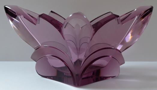 Mísa z ametystového skla, art deko - Rudolf Hloušek (1).JPG