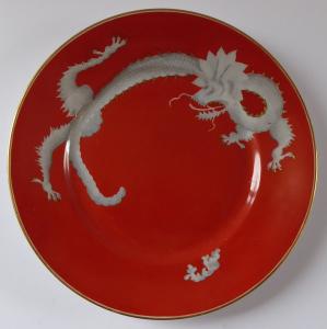 Červený talířek s čínským drakem - Rosenthal (1).JPG