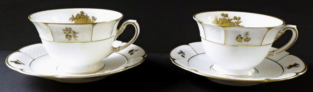 Dva čajové šálky, zlaté květy - Rosenthal (1).JPG