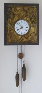 Biedermeierové hodiny, nástěnné, s figurálním motivem pijáků (1).JPG