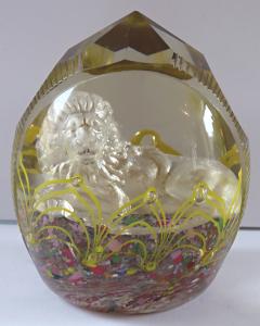 Skleněné těžítko, se stříbrným lvem (1).JPG