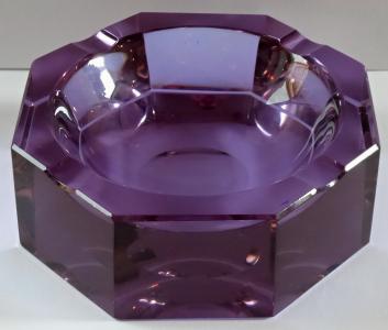 Popelník z alexandritového skla, s oroplastikou (1).JPG