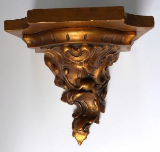 Zlacená konzole v rokokovém stylu, dřevo a sádra (1).JPG