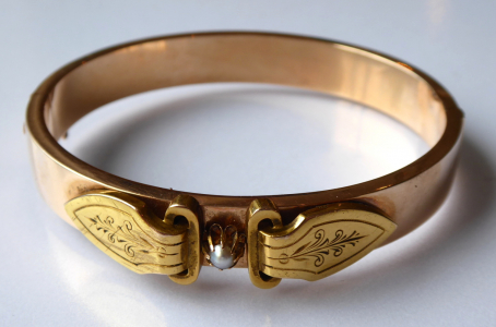 Náramek z růžového a žlutého zlata - Biedermeier (1).JPG