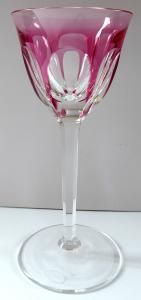 Sklenička na nožce, růžová lazura - Moser (1).JPG