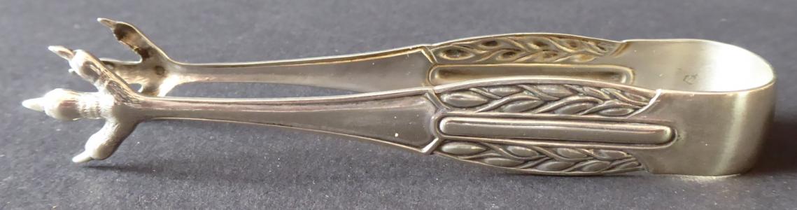 Menší kleštičky, postříbřené - secesní ornament (1).JPG