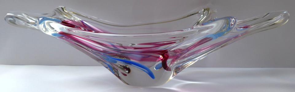 Mísa z hutního skla - Max Verboeket, Kristalunie Maastricht (1).JPG