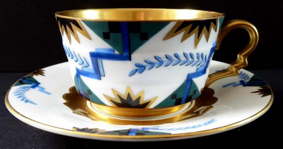 Art dekový malovaný a zlacený moka šálek - Rosenthal (1).JPG