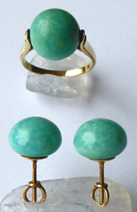 Zlatý prsten a náušnice, s aventurinem (1).JPG