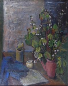 Dagmar Bromová - Zátiší s květinami v konvici (2).JPG