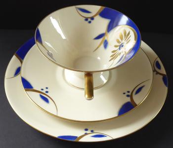 Šálek s podšálkem a talířkem, art deko - Bareuther (1).JPG