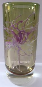 Váza s růžově bílým květem - Petr Hora (1).JPG