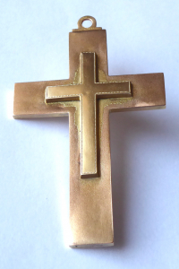 Zlatý přívěsek, kříž  - Biedermeier (1).JPG