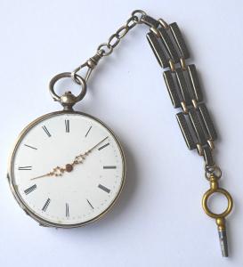 Stříbrné kapesní hodinky se šatlénem (1).JPG