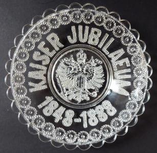 Jubilejní skleněný talířek - František Josef I (1).JPG
