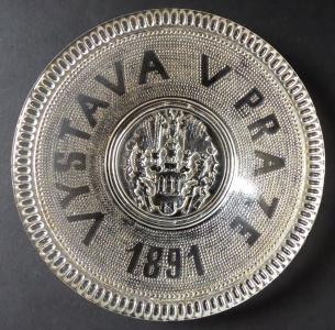 Upomínkový talířek k Jubilejní výstavě v Praze 1891 (1).JPG