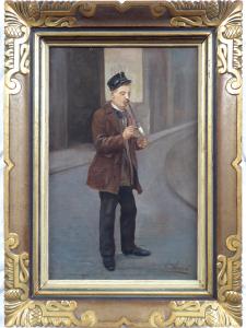František Klimeš - Muž na ulici s fajfkou (1).JPG