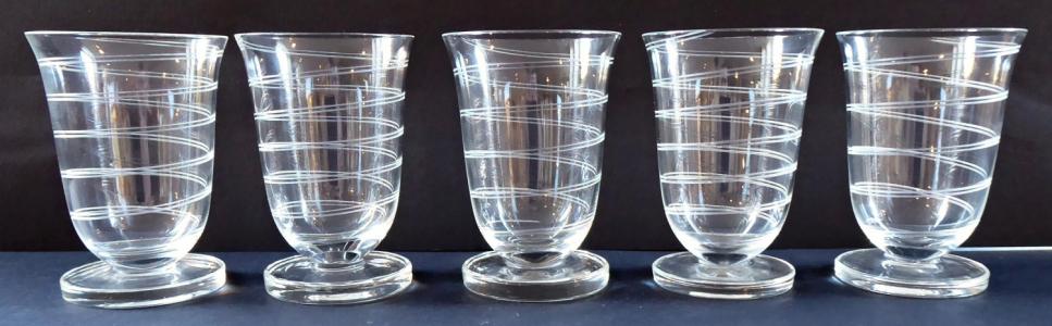 Pět skleniček, silnostěnná kulatá základna (1).JPG