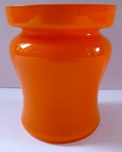 Vázička z oranžového tango skla (1).JPG